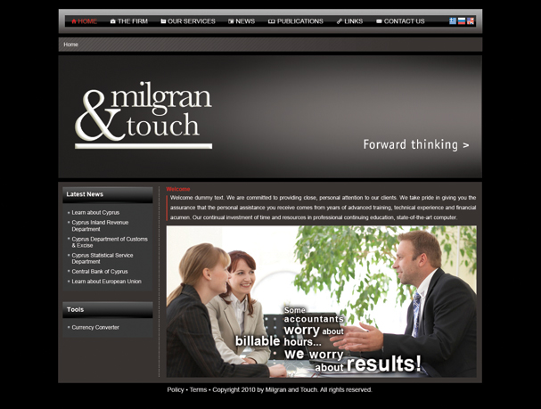 Milgran & Touch website