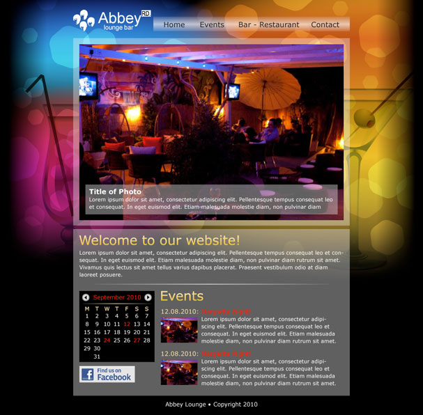 Abbey Lounge Bar Website