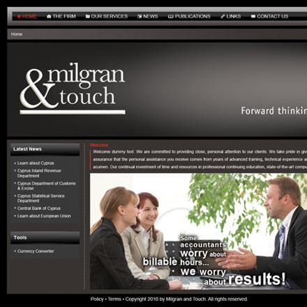 Milgran & Touch website