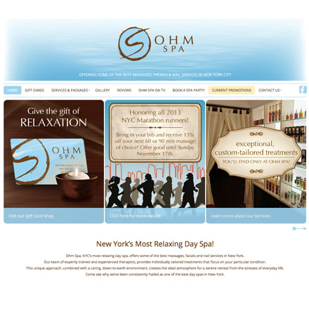 Ohm Spa Website